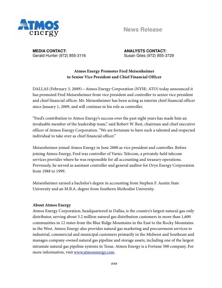 News Release   MEDIA CONTACT:                                        ANALYSTS CONTACT: Gerald Hunter (972) 855-3116       ...