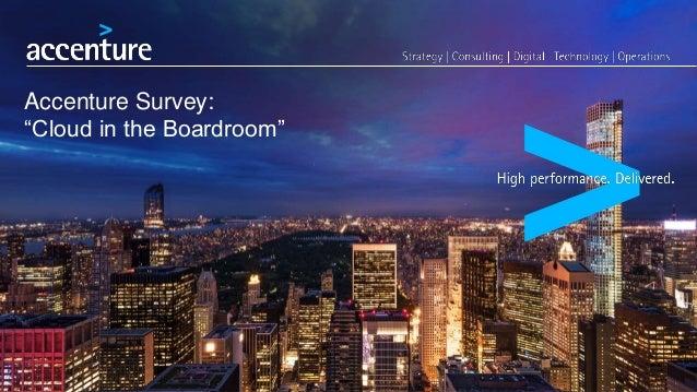 "Accenture Survey: ""Cloud in the Boardroom"""