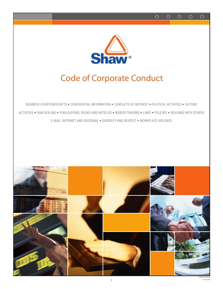 Code of Corporate Conduct      Business Courtesies/Gifts • Confidential information • ConfliCts of interest • PolitiCal aC...
