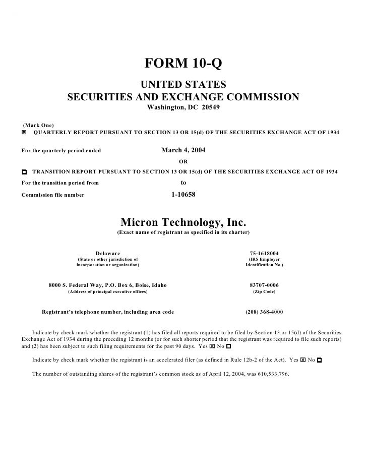 FORM 10-Q                                UNITED STATES                    SECURITIES AND EXCHANGE COMMISSION              ...