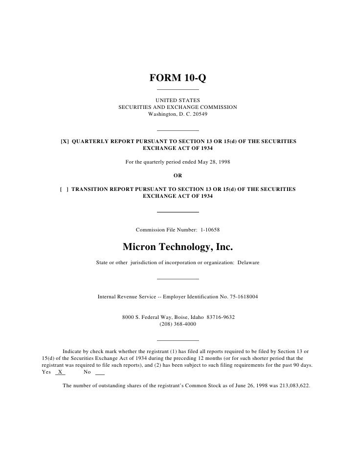FORM 10-Q                                                UNITED STATES                                   SECURITIES AND EX...