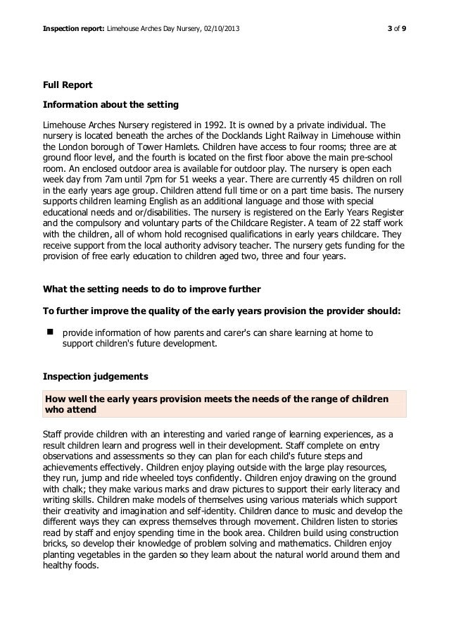 ofsted inspection handbook early years