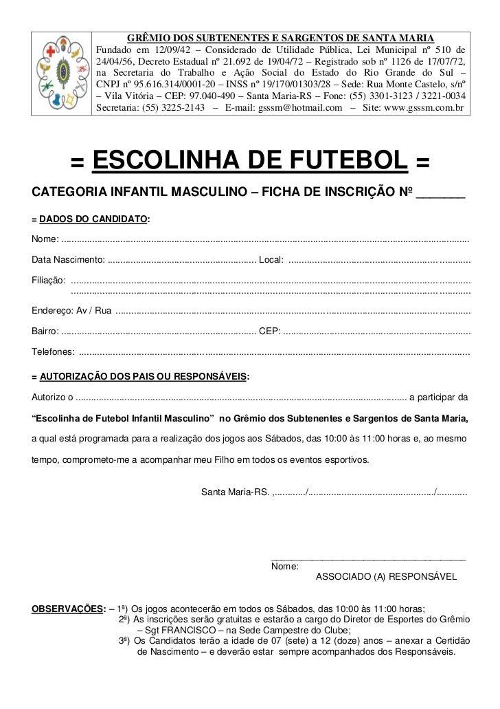 GRÊMIO DOS SUBTENENTES E SARGENTOS DE SANTA MARIA                        Fundado em 12/09/42 – Considerado de Utilidade Pú...