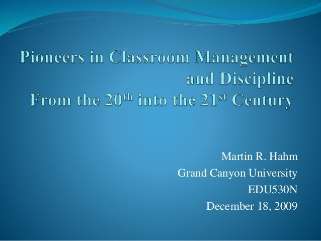 e68b4c653 Pioneers in Classroom Management and Discipline 5-15