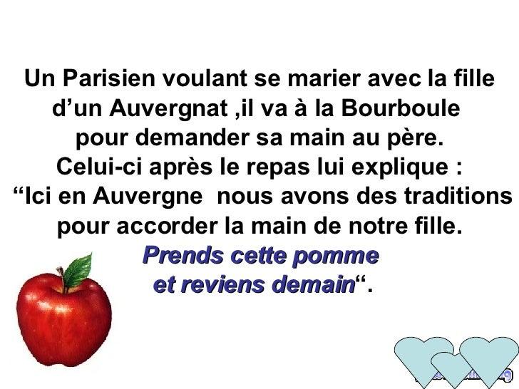 Un Parisien voulant se marier avec la fille d'un Auvergnat ,il va à la Bourboule   pour demander sa main au père.  Celui-c...