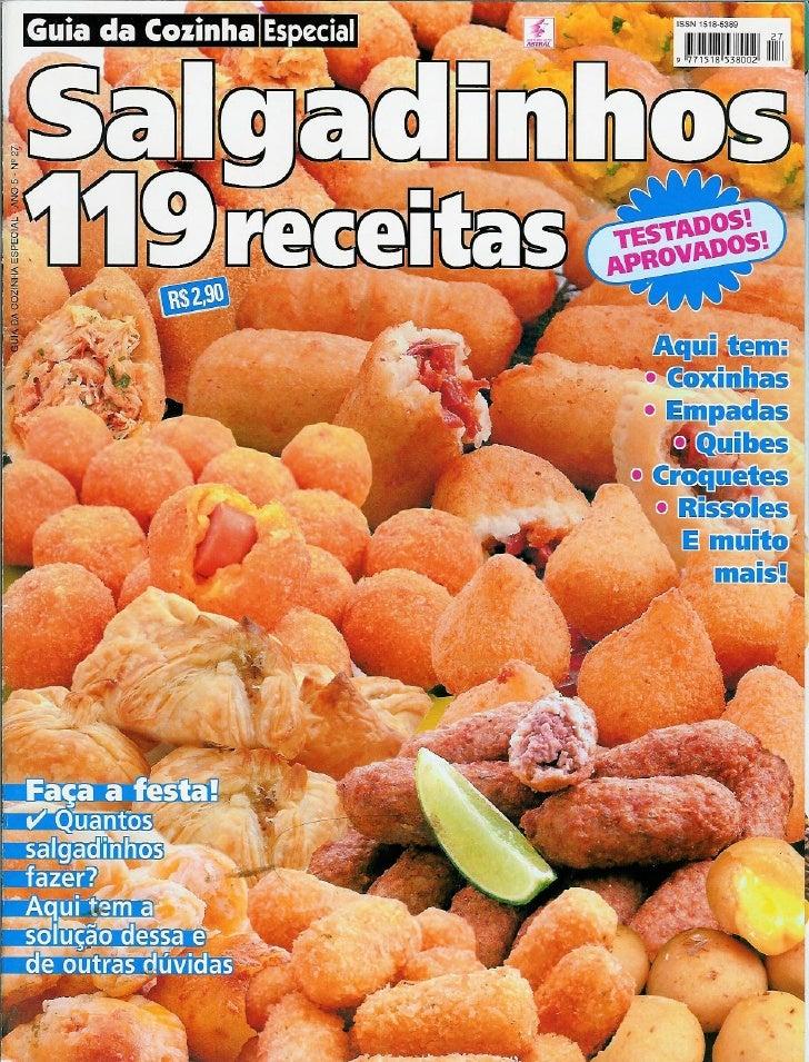 119 Receitas De Salgadinhos