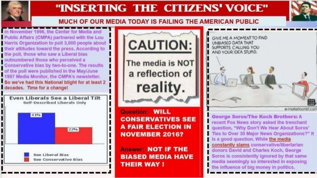 media bias and the upcoming 2016 election