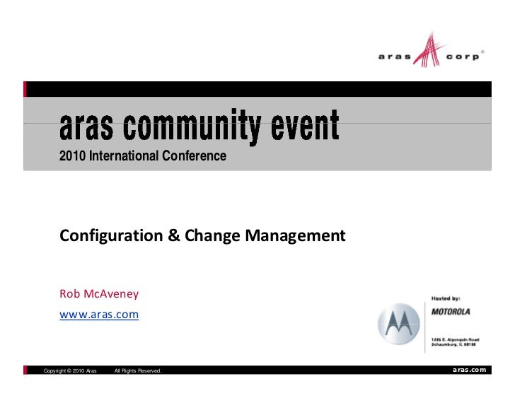 2010 International Conference           Configuration & Change Management         Rob McAveney                            ...