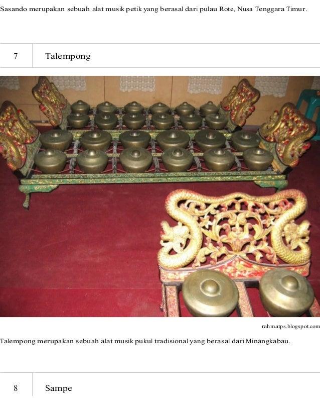 11 Alat Musik Tradisional Di Indonesia Beserta Asal Daerahnya