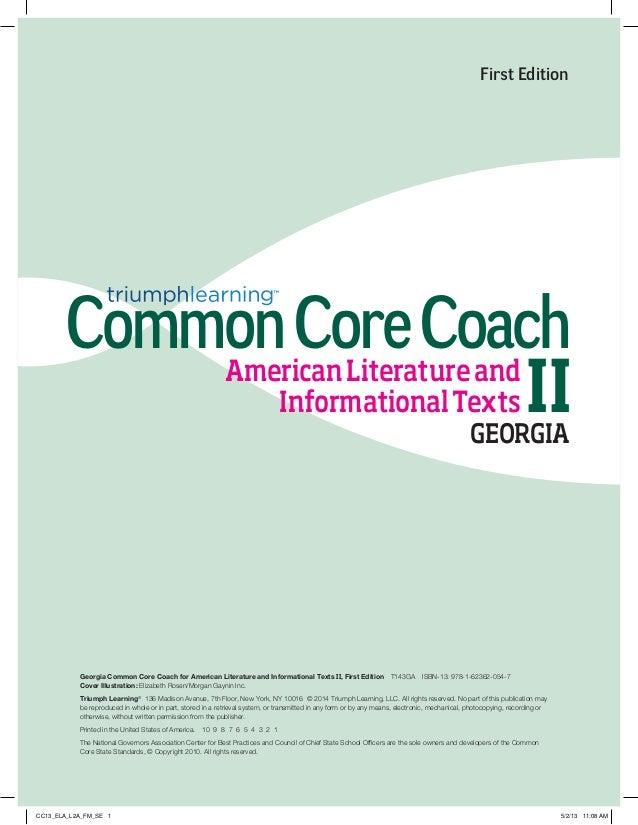 Georgia Common Core Coach Ccgps Edition American