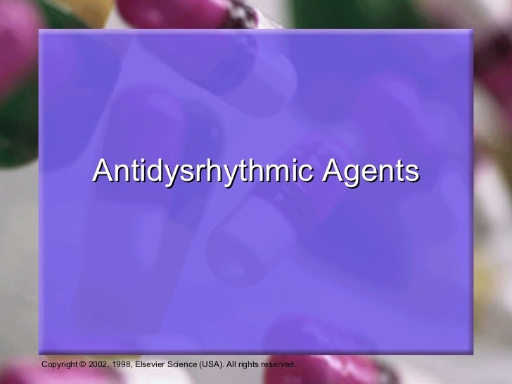 Antidysrhythmic Agents