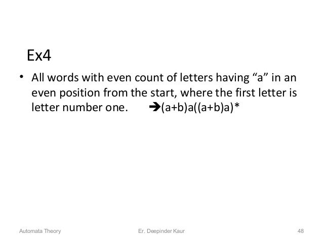 """Ex4 • All words with even count of letters having """"a"""" in an even position from the start, where the first letter is letter..."""