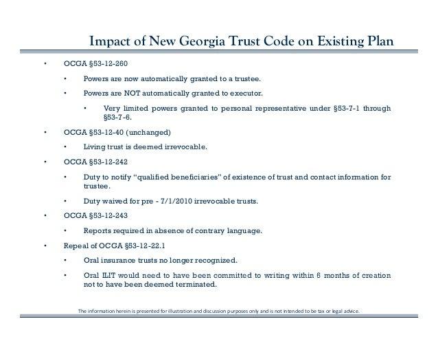 Georgia\'s New Trust Code