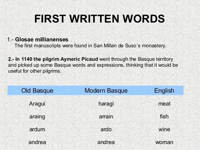 Basque Language Written