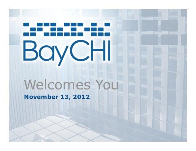 Welcomes YouNovember 13, 2012