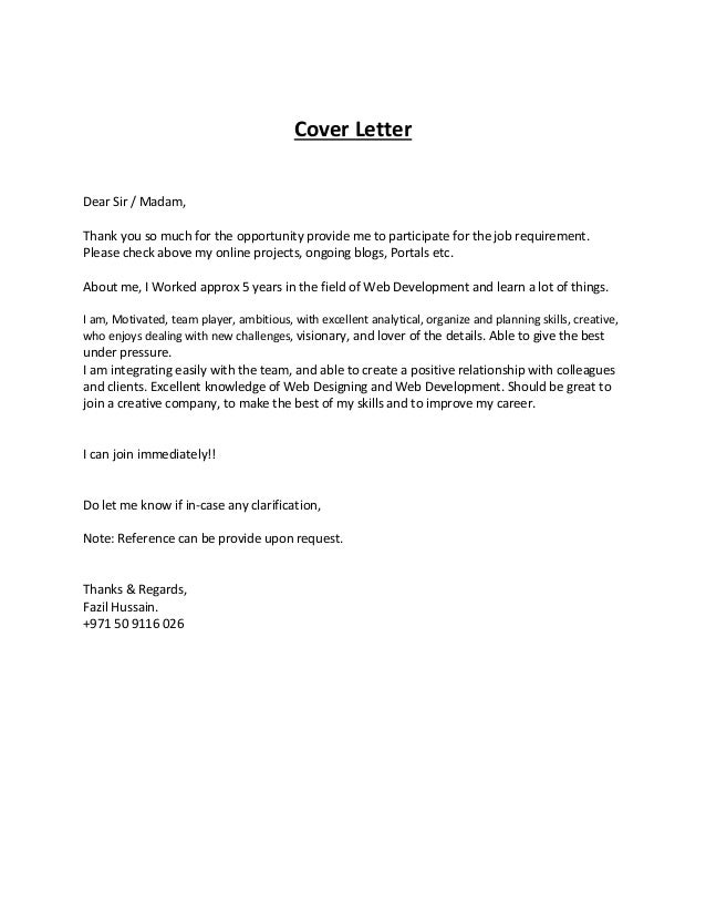 front end web developer cover letter sample. web developer ...