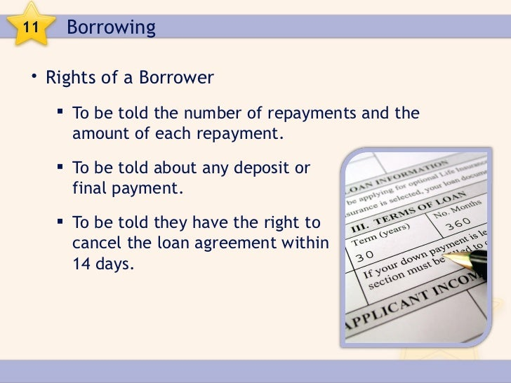 Borrowing 8 11 borrowing rights of a borrower platinumwayz