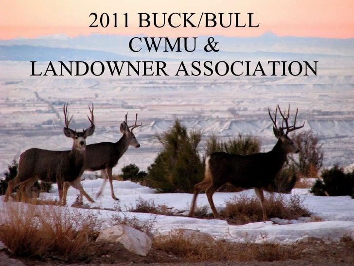 2011 CWMU & Landowner Associations — Dec. 2, 2010 Meeting