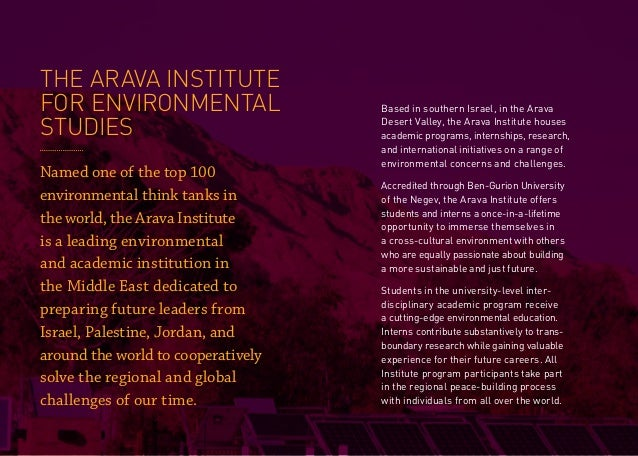 Arava Institute Internship