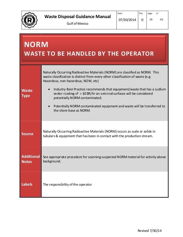 Rowan Waste Disposal Manual Rev 7 14 2014 1
