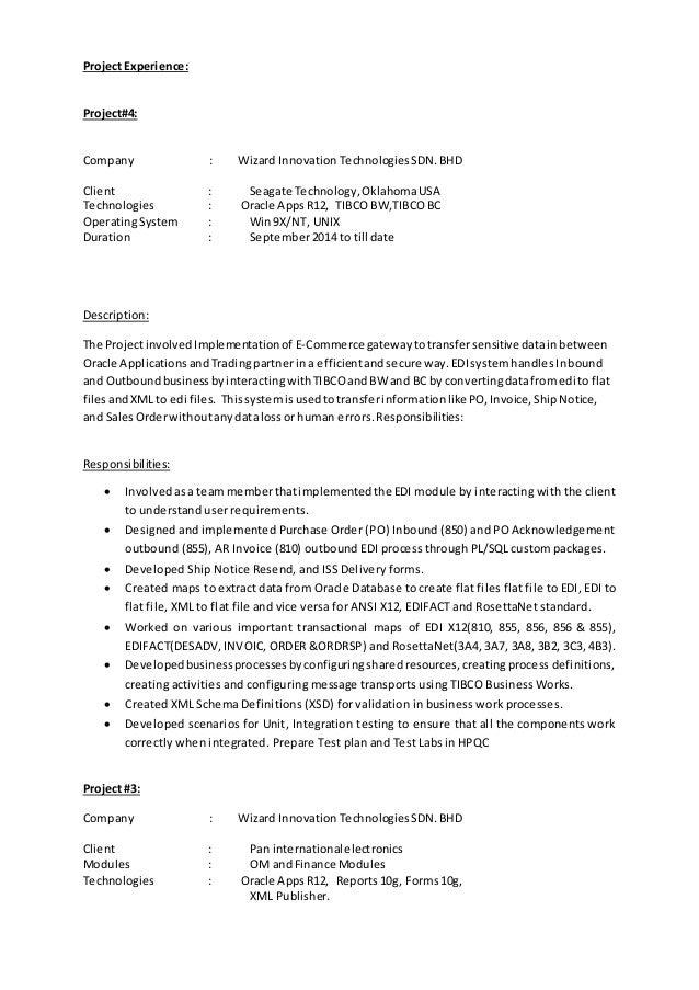 bhanuresumeoracleappspl sql developer
