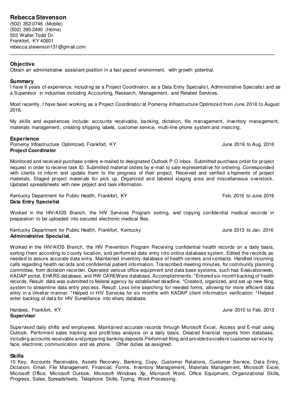 new 2016 resume 2a