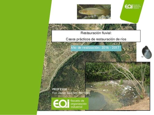 Año de realización: 2016 - 2017 PROFESOR Fco Javier Sánchez Martínez Restauración fluvial: Casos prácticos de restauración...
