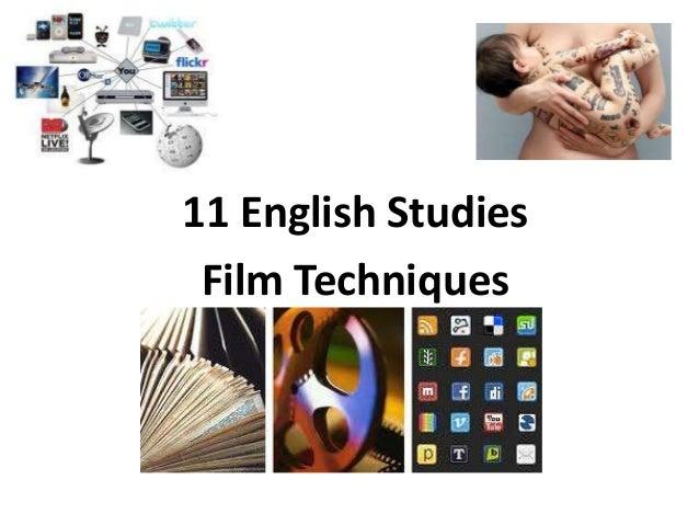 11 English Studies Film Techniques