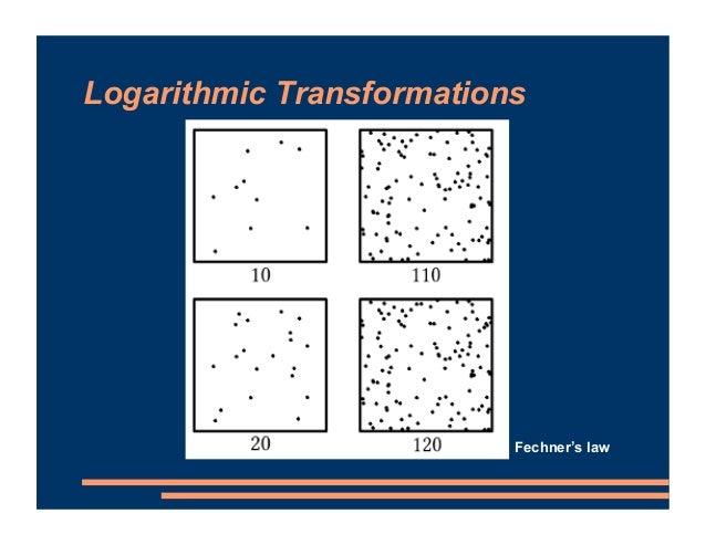 Logarithmic Transformations Fechner's law