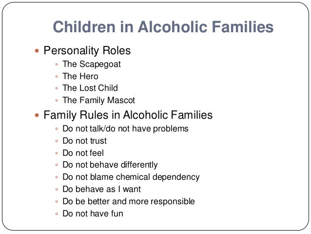 alcohol addiction family roles