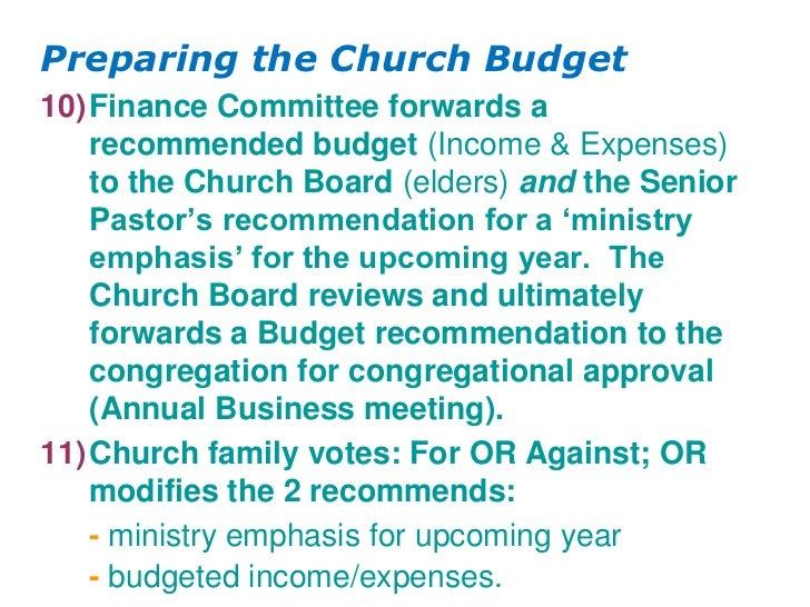 11 Church budgeting