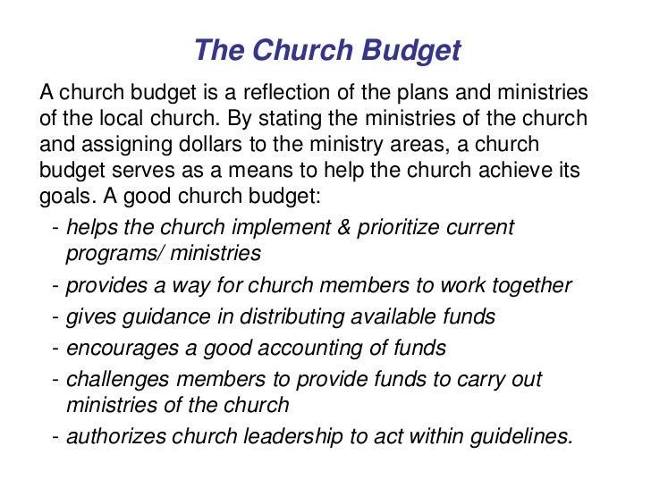 church budget spreadsheet