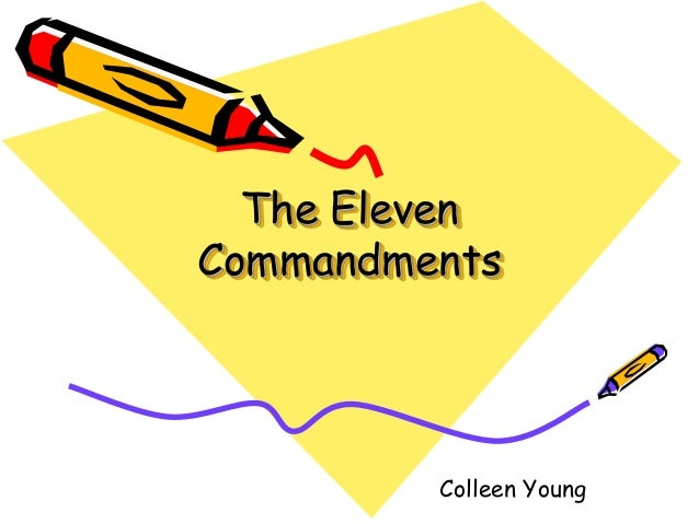 The Eleven Commandments Colleen Young