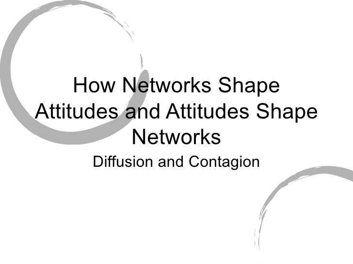 How Networks Shape Attitudes and Attitudes Shape Networks Diffusion and Contagion