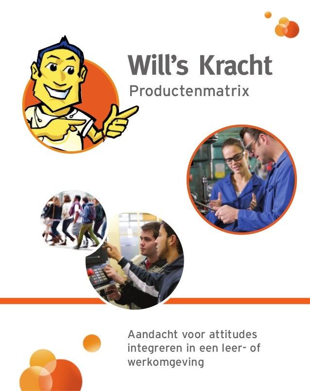 W E ill's Kracht valuatietoolbox Werken aan arbeidsattitudes en competentieontwikkeling '' Will's Kracht als schakel tusse...