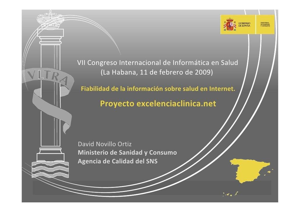 VIICongresoInternacionaldeInformáticaenSalud                         (LaHabana,11defebrerode2009)            ...