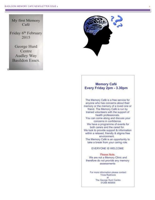 Forget Me Not Memory Café Newsletter Slide 2