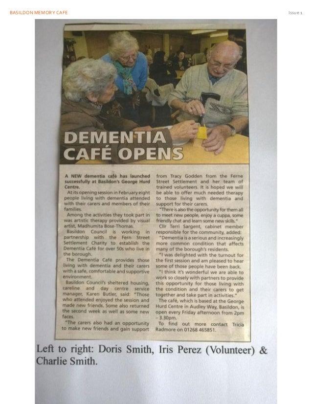 BASILDON MEMORY CAFE Issue 1