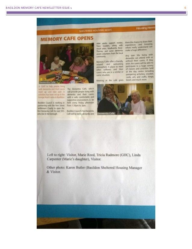 BASILDON MEMORY CAFE NEWSLETTER ISSUE 1 6
