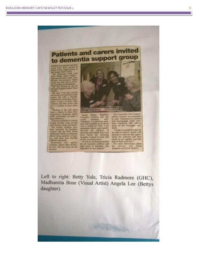 BASILDON MEMORY CAFE NEWSLETTER ISSUE 1 8