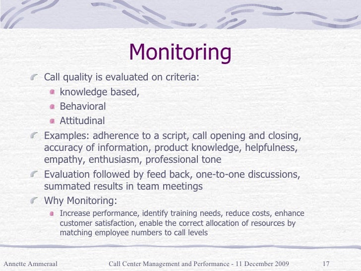 call-center-management-17-728 Quality Monitoring Forms Examples on