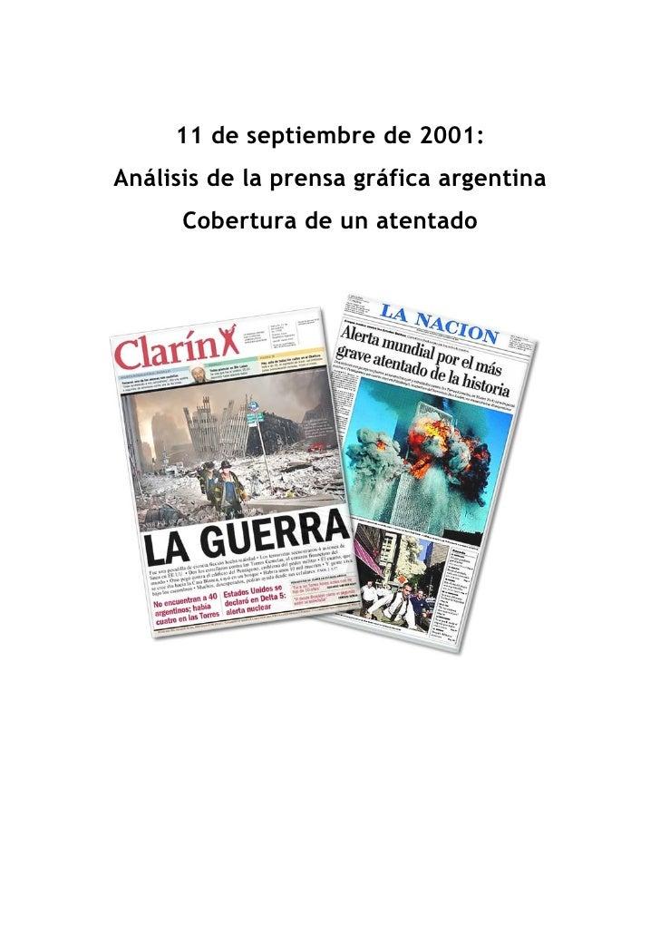 11 de septiembre de 2001: Análisis de la prensa gráfica argentina       Cobertura de un atentado