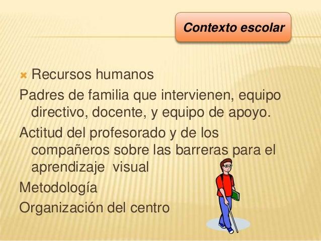  Recursos humanosPadres de familia que intervienen, equipodirectivo, docente, y equipo de apoyo.Actitud del profesorado y...