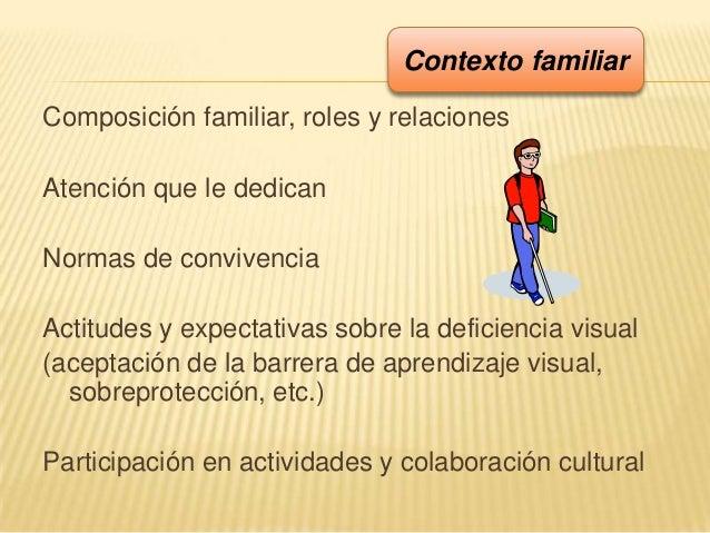 Composición familiar, roles y relacionesAtención que le dedicanNormas de convivenciaActitudes y expectativas sobre la defi...