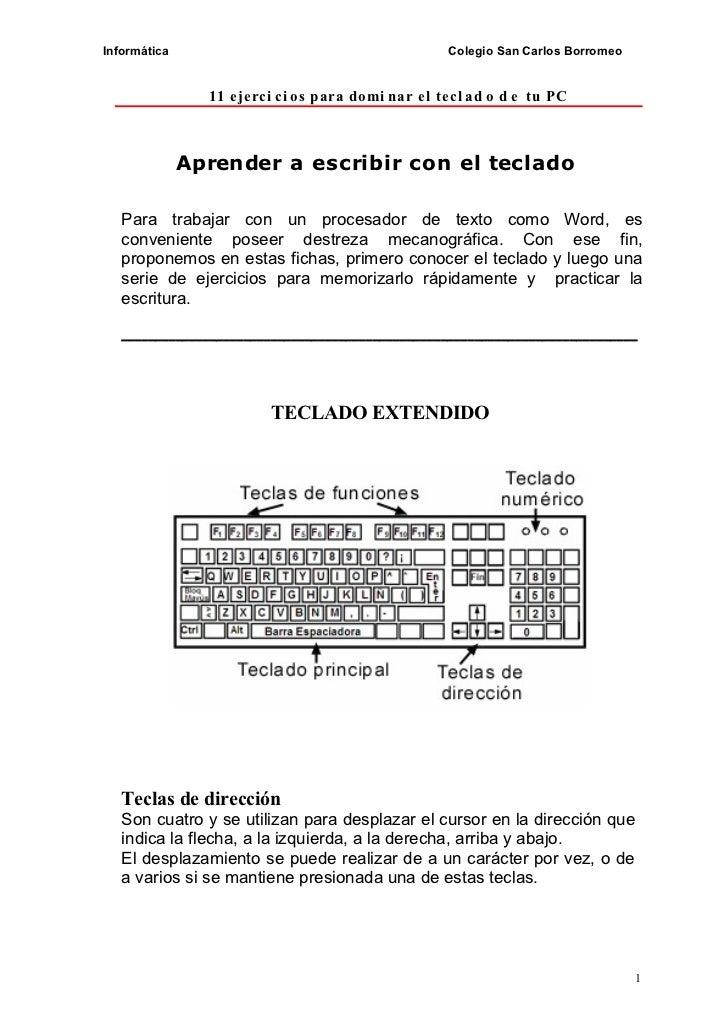 11 ejercicios para dominar el teclado de tu pc