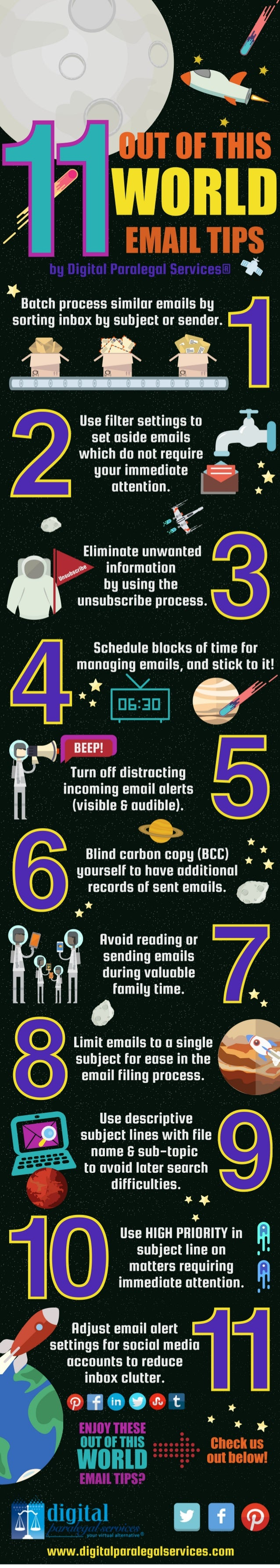 11 Out of this World Email Tips