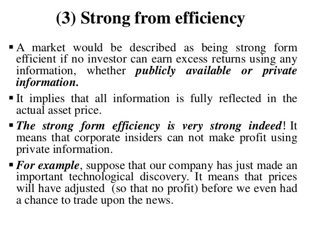 insider trading and market efficiency Tional, if not also the allocative efficiency of financial markets in ways tradi-   economic analysis, insider trading, and game markets, 1992 utah l rev.