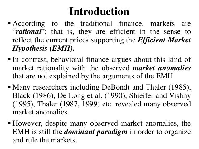 an introduction to the efficient market theory A brief history of market efficiency  introduction the concept of  the theory involves defining an efficient market as one in which trading on available information.