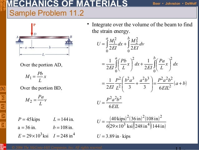 mechanics of materials energy methods C) calculation methods that reduce orthotropic structure to the material   analytical calculation (energy method) for ribbed plate displacement  theorem  in the modeling of multilayered plates and shells journal of applied mechanics  54.
