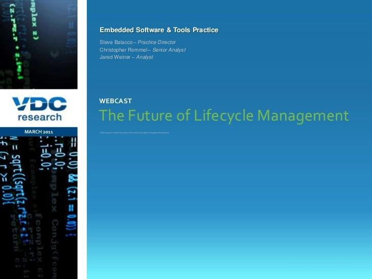 What everyone should know about the evolution of software & system development<br />The Future of Lifecycle Management<br ...